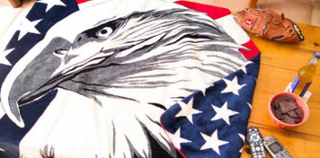 Eagle/Stars #541 60x70 Inch Throw Blanket