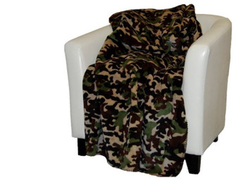 Camouflage Dk Chocolate/Chocolate #245 50x60 Inch Throw Blanket