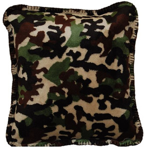 Camouflage Dk Chocolate/Chocolate #245 18x18 Inch Throw Pillow