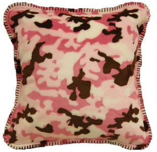 Camouflage Pink/Taupe #678 18x18 Inch Throw Pillow