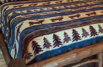 Elk Adventure Earth Ragz blanket