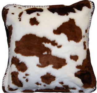 Brown Cow/Taupe #160 18x18 Inch Throw Pillow