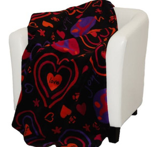 Confetti Dreams/Peace Love Joy #016 60x70 Inch Throw Blanket