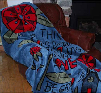 Beautiful and Amazing Life by Sticks/Sage #485 50x60 Inch Throw Blanket