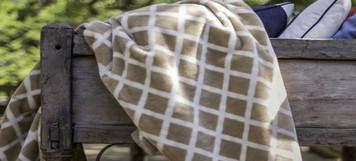 Cashew Lattice/Cashew #904 50x60 Inch Throw Blanket