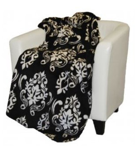 Black Medallion/Black #010 60x70 Inch Throw Blanket