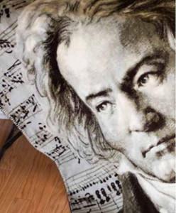 Beethoven/Chocolate #357 50x60 Inch Throw Blanket
