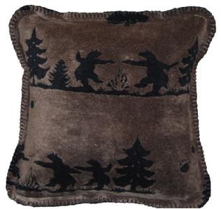 Bear Boogie/Black #916 18x18 Inch Throw Blanket