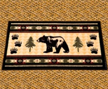 Bear Fever Accent Rug