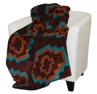 Aztec Brown/Sable #244 60x70 Inch Throw Blanket