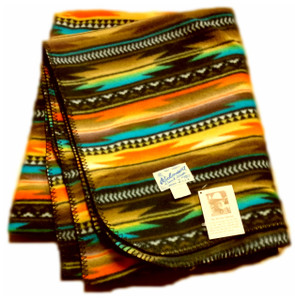 Native Fleece Blanket Brown