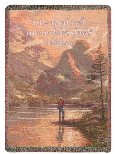 Almost Heaven Throw Blanket by Thomas Kinkade by Manual Woodworkers & Weavers (50x60 Inches)