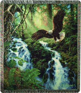 Eagle's Flight Throw Blanket by Manual Woodworkers & Weavers (50x60 Inches)