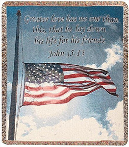 A Salute to our Soldiers Throw Blanket by Manual Woodworkers & Weavers (50x60 Inches)
