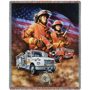 Firefighter Throw Blanket by Pure Country Weavers Inc (53x70 Inches)