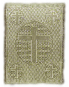 Cross Natural and Taupe woven cotton throw blanket