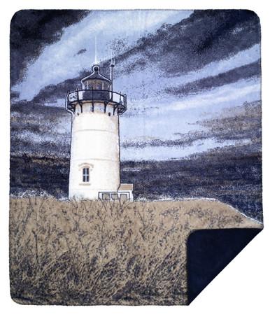 Denali Lighthouse / Classic Navy MicroPlush Blanket