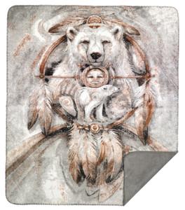 Denali Bergsma Spirit Bear MicroPlush Blanket