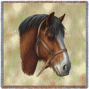 Clydesdale Lap Square Throw Blanket by Pure Country Weavers (54x54 Inches)