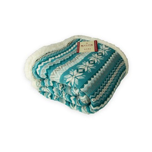 Winter Lambswool Throw Blanket - Teal by Kanata (50x60 Inches)
