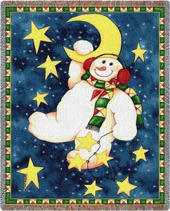 Hanging on the Moon Throw Blanket by Pure Country Weavers (53x70 Inches)