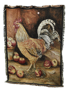 English Cockerel Throw Blanket by Pure Country Weavers (54x70 Inches)