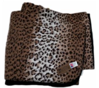 Cheetah Looped Fleece With Black Fleece Backing