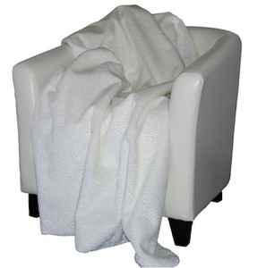 Embossed White #197 Throw Blanket by Denali (50x60 Inches)