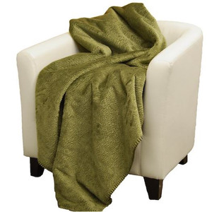 Embossed Sage #365 Throw Blanket by Denali (60x70 Inches)