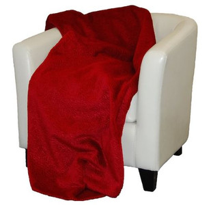 Embossed Scarlet #637 Throw Blanket by Denali (50x60 Inches)