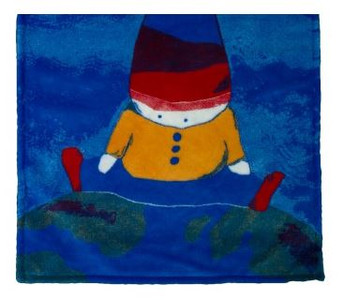 Boy On Top Of The World/Royal Blue #415 Baby Blanket by Denali (30x36 Inches)