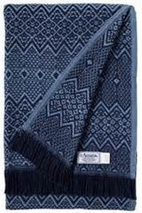 Amana Cotton Nordic Navy and Blue Throw Blanket