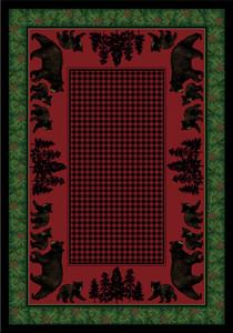 Bear Family Multi Rug by American Dakota (3x4)