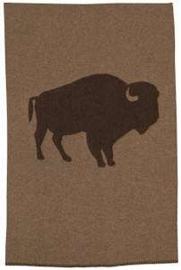 Wooded River Bison Ridge 1 buffalo Throw Blanket