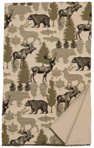 Wooded River Echo Lodge Wildlife Throw Blanket