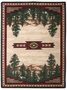 "Autumn Point/Wine 4x5 Rug by American Dakota (3'10"" x 5'4"")"