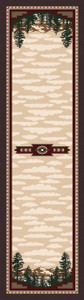 "Autumn Point/Wine 2x8 Runner by American Dakota (2'1"" x 7'8"")"