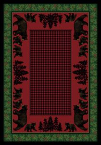 "Bear Family/Multi 5x8 Rug by American Dakota (5'4"" x 7'8"")"