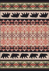 "Cozy Bears/Burnt Red 8x11 Rug by American Dakota (7'8"" x 10'9"")"