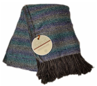 Mystic Throw in Lagoon color