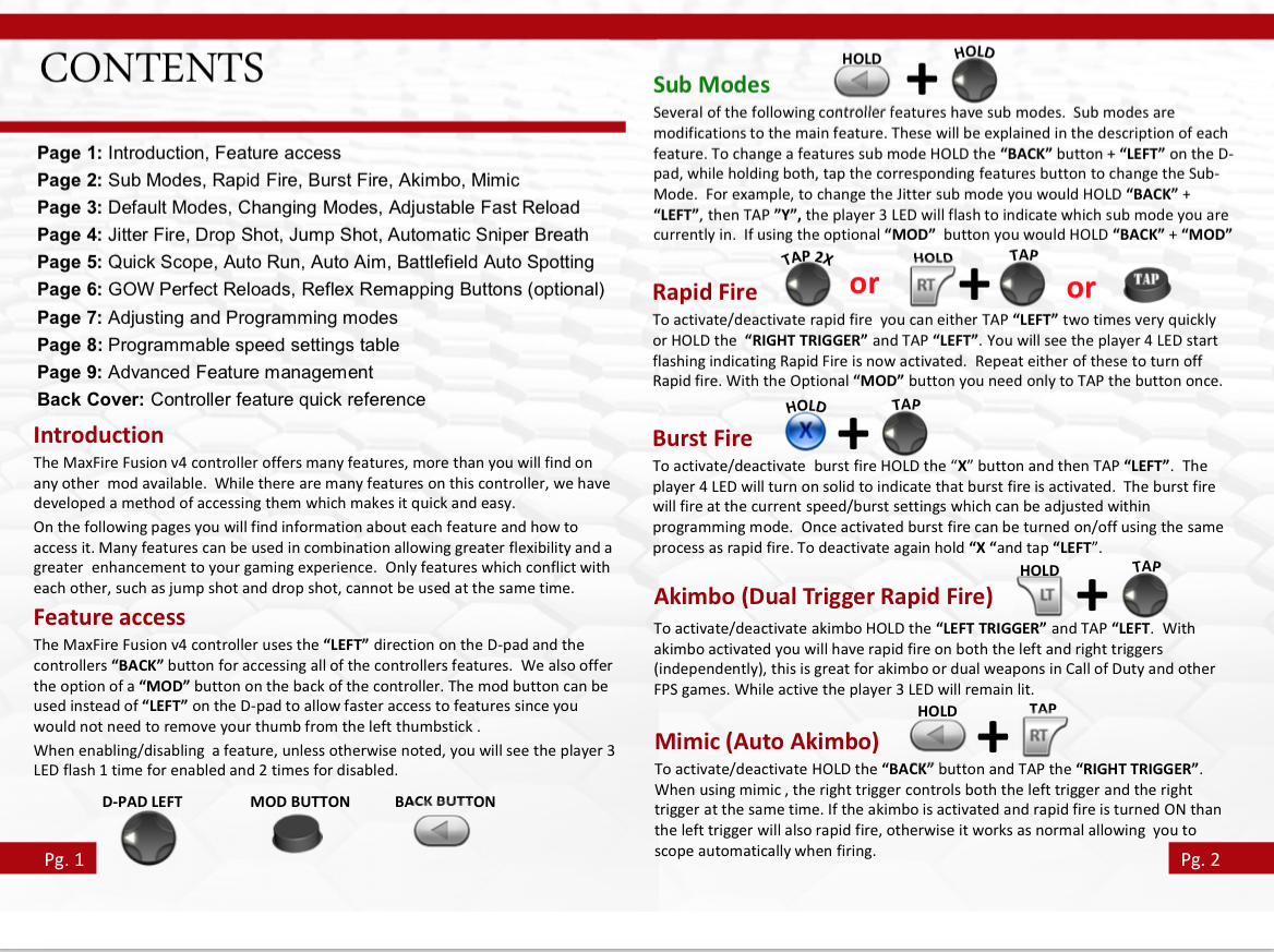 modded xbox 360 controller manual