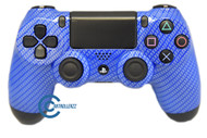 Blue Carbon Fiber PS4 Controller | Ps4