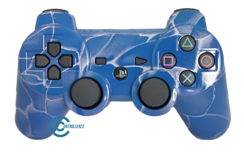 Blue Swirl PS3 Controller | Ps3