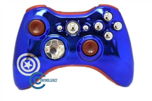 Captain America Themed Xbox 360 Controller | Xbox 360