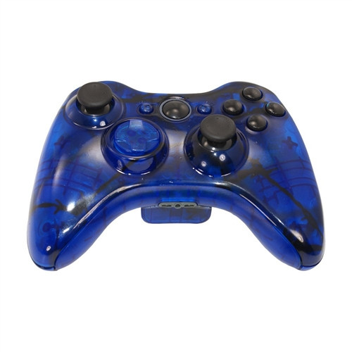 Clear Blue Barbed Wire Controller   Xbox 360