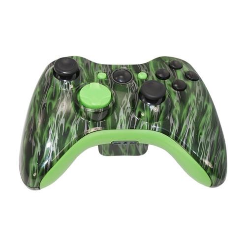 Green Flame Controller   Xbox 360