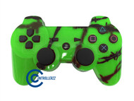 Green Barbed Wire PS3 Controller | Ps3