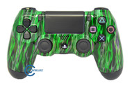 Green Flame PS4 Controller | Ps4