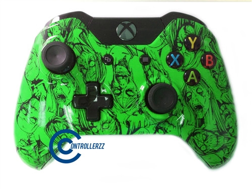 Green Zombie Xbox One Controller |  Xbox One