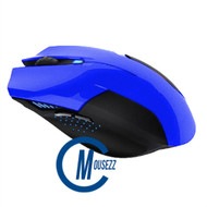 Blue Wired Matte Mouse  |  Horizon